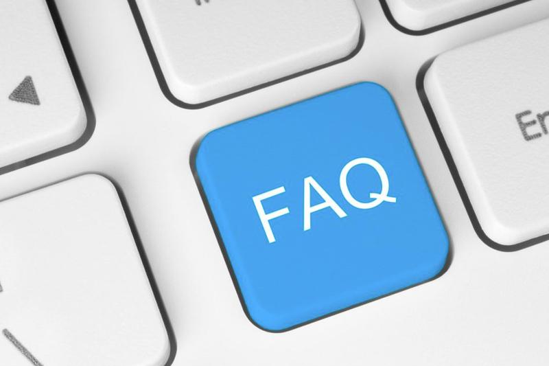 keyboard showing FAQ button